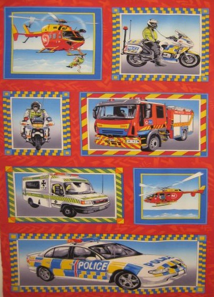 Emergency Fire Engine Police Ambulance Panel - Click Image to Close