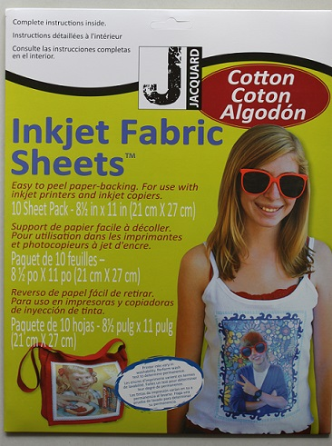 Inkjet Fabric Printable Cotton 10 sheets A4 Size (21cm x 27cm) - Click Image to Close