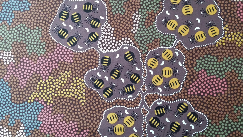 Wild bush Honey Ant Brown by Audrey Mortin Napanangka - Click Image to Close