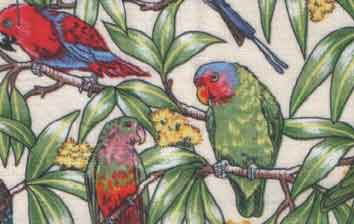 Birds in Paradise Cream - Click Image to Close