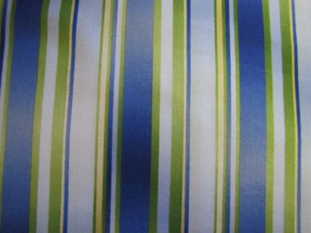 Dark Blue, White, Green & Yellow Stripe