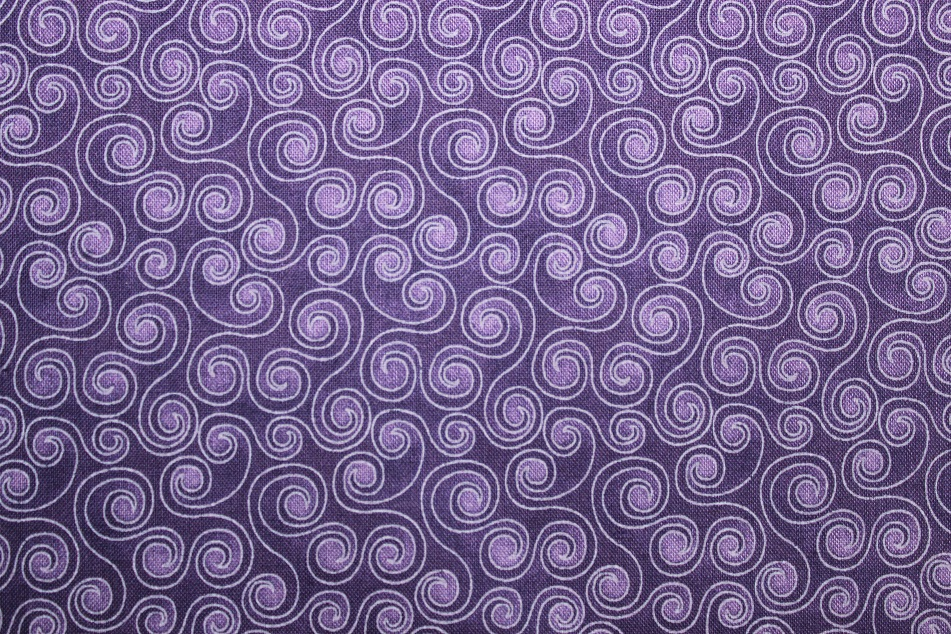Chloe Collection Swirls Tone-On-Tone Purple - Click Image to Close