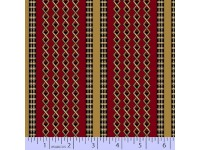 Civil War Melodies Burgundy Tan & Black Criss Cross Border Print