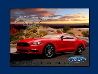Red Ford Mustang Panel Size 90cm x 110cm
