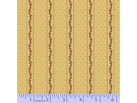 Civil War Melodies Tan With Stripes of Tiny Red Flowers & Spots