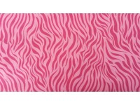 Pink Zebra stripe - Flannel Fabric