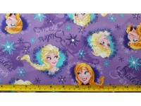 FROZEN Elsa Anna sisters on Purple Background
