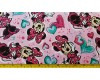 Minnie Mouse with hearts on pink background