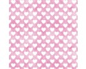 Sleepytime Animals: White Hearts on Pink