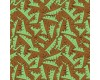 Dinosaur Green Tail Scales Brown Background Dino