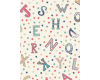 Vintage Circus Stars and Letters on cream /off white background
