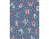 Vintage Circus Stars and Letters on Blue Background