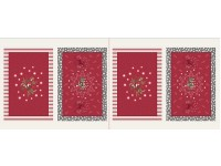 2 Burgundy Christmas Place Mats to Make
