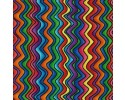 Rainbow Zizag - Bright Orange, Red, Blue, Green, Purple