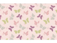 Bunny Garden Butterflies Butterfly on Light Pink Background