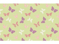 Bunny Garden Butterflies Butterfly on Light Green Background