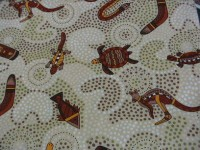 Australian Gooloo in Beige - Dot Art Fabric