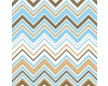 Blue and Brown Chevron zigzag
