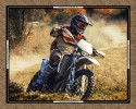 "Burrangong Creek Dirt Bike Co: Landscape 36"" x 44"" Panel bikes"