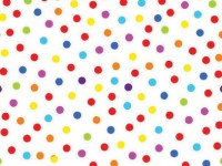 Multi Coloured Dots on White