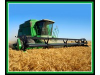 "Farm Machines: Green Harvester 36"" x 44"" Panel Header"