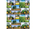 Farm Machines: Block Collage Allover Tractor, Header, Harvester