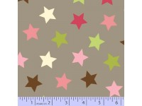 Zig Zag Collection Flannel - Green, Pink, Brown & White Stars
