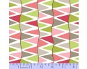 Zig Zag Collection Flannel - Grey, Green & Pink Zig Zag Stripe