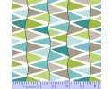 Zig Zag Collection Flannel - Green, Blue & Grey Zig Zag Stripes