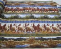 Lovely Horse Border Print - Galloping Horses and Scenic Views