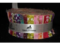 Fabric Freedom Noodle Jelly Roll Bright Batiks Sherbets
