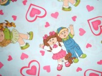 Cabbage Patch Kids on Light Blue