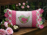 "Mrs Pennyfeather Cushion Pattern by Sally Giblin 12.5"" x 24"""