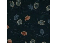 Japanese Traditional Nara Owls on Navy background