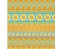 Notting Hill - Mustard - Border Fabric Gold, Turquoise, Blue