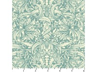 Paris Spring - William Morris style Leaves in Blue