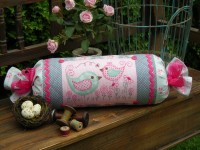 "Peak & Boo Bolster Cushion by Sally Giblin 7"" x 25"""