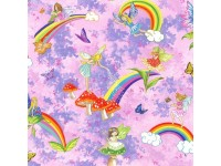Fairy Faries Butterfly Rainbow toadstools