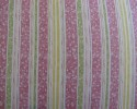 FAT QUARTER Beatrix Potter Puddle Duck Pink, Lemon, Green Stripe