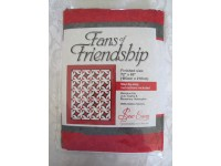 Red, Black and White Tone on Tone Fans of Friendship Quilt Kit