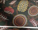 Red Dust Black - Warratah, Banksia, Bottle Brush, Dot Art