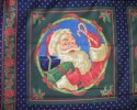 Christmas Jolly Old Santa With Gifts & Candy Sticks Panel