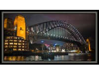 "Sydney Sights: Harbor Bridge & Opera House 24""x 44"" Panel"