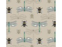 The Botanist Bees and Dragonfly on natural background