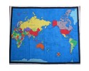 Fabric Map of the World Approx 90cm x 112cm