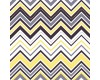 Yellow, Black, Grey and White Chevron Zigzag