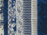 8 Fat Quarter Pack from the Blue Gallery Collection
