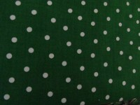 Christmas - Green with White Dots