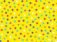 Multi Coloured Dots on Yellow