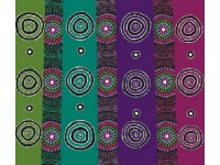 Desert Flowers Black Australian Aboriginal Fabric